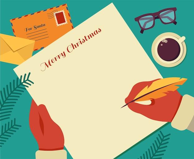 Ti auguro una lettera di buon natale.
