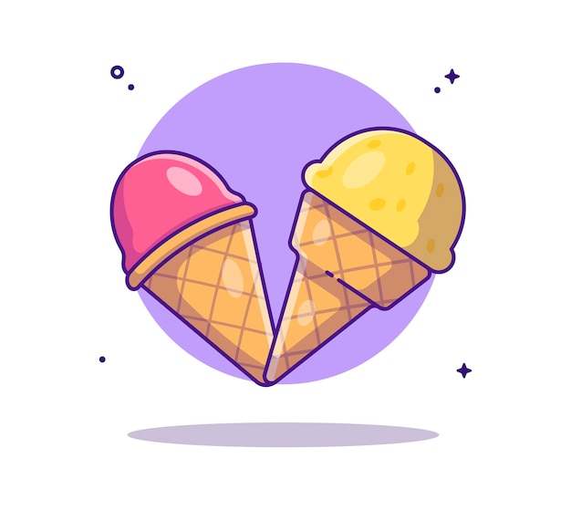 Cartone animato gelato