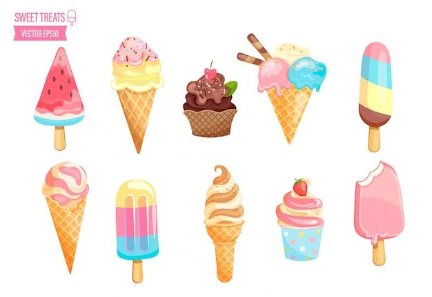 Collezione di gelato