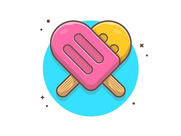 Illustrazione vettoriale di gelato combinato