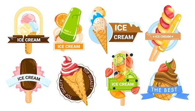Cono gelato estate cibo dolce dessert sapore di vaniglia