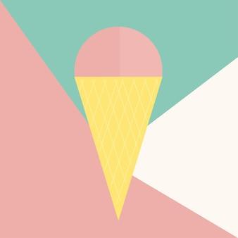 Icona di gelato isolato su priorità bassa. pittogramma piatto moderno, concetto di internet. simbolo vettoriale semplice alla moda per la progettazione di siti web o pulsante per l'app mobile. illustrazione del logo. minimalismo