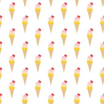 Modello di gelato, sfondo estivo colorato. illustrazione di stile elegante e di lusso