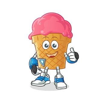Illustrazione del robot gelato