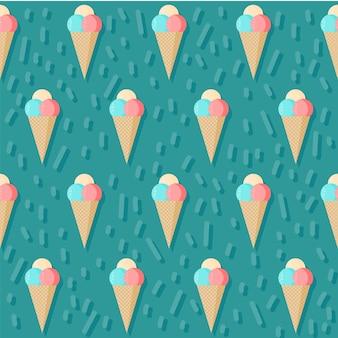 Fondo senza cuciture gelato