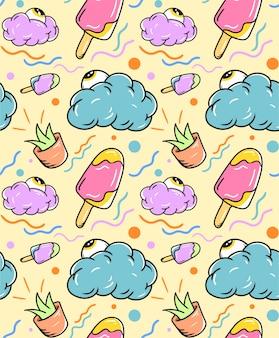 Seamless pattern di gelato