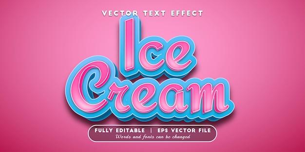 Effetto testo gelato, stile di testo modificabile