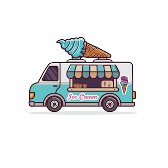 Illustrazione del fumetto del camion dei gelati