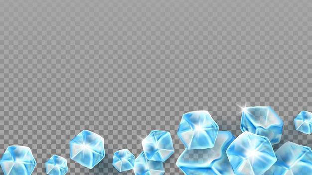 Cubetti di ghiaccio per rinfrescare la bevanda rinfrescante vector