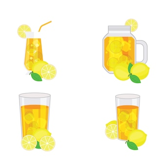 Tè freddo al limone con limone