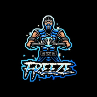 Ice man mascot logo esport gaming