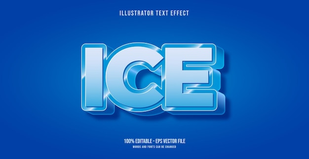 Effetto testo ghiaccio, stile testo modificabile