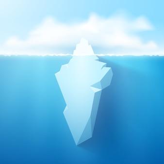 Illustrazione di concetto di iceberg.