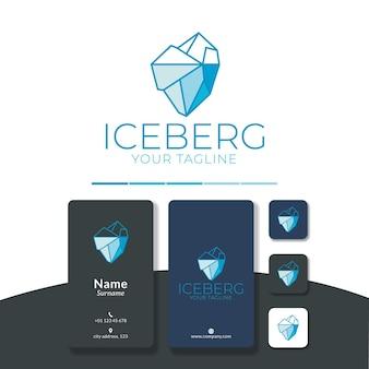 Linea geometrica del design del logo iceberg