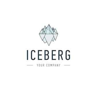 Iceberg triangolo di freddo montagna vettore astratto e logo design o template collina icona di business del concetto di identità di identità aziendale. iceberg,