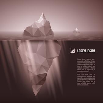 Iceberg sotto l'acqua