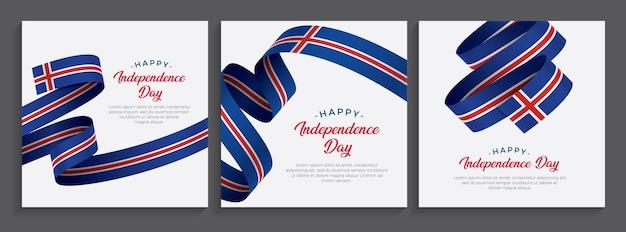 Islanda felice giorno dell'indipendenza bandiera, illustrazione
