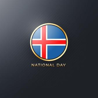Illustrazione vettoriale della festa della repubblica islandese. modello per il giorno dell'indipendenza elegante e lussuoso.