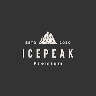Icepeak mount vintage icona logo illustrazione