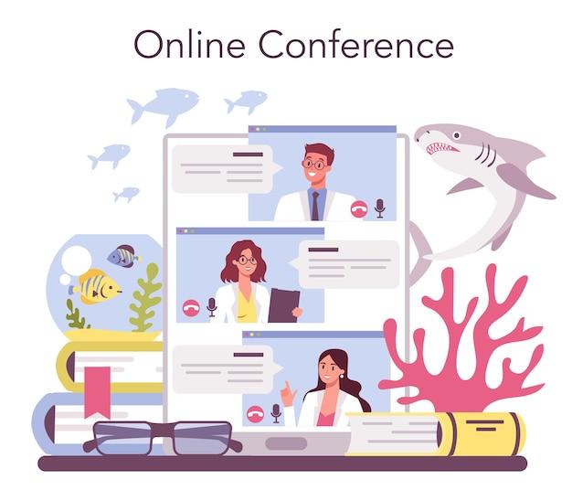 Piattaforma o servizio online di ittiologo
