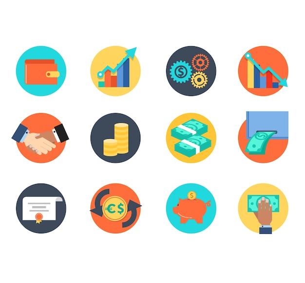 Icona per bussinessman o tecnologia di gestione aziendale