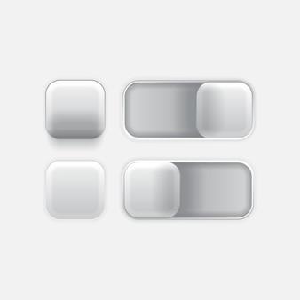 Icona pulsante premere interruttore interfaccia utente web design semplice