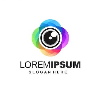 Icona colore della fotocamera Vettore Premium