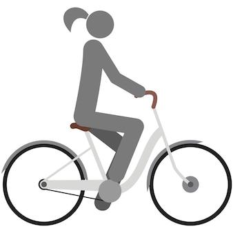 Icona ciclo vettore bici ciclista pittogramma simbolo silhouette