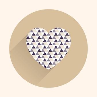 Illustrazione dei cuori dell'icona. carta di san valentino per modello di vacanza. stile creativo e di lusso