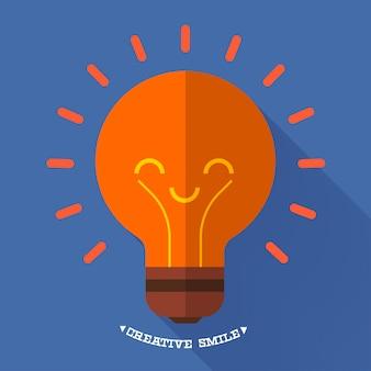 Icone idea design piatto illustrazioni.