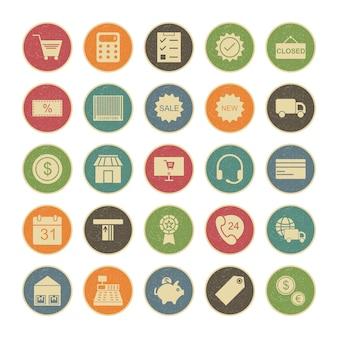 Set di icone dell'interfaccia utente di base per uso personale e commerciale ...