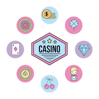Icon set casino scommesse aperte