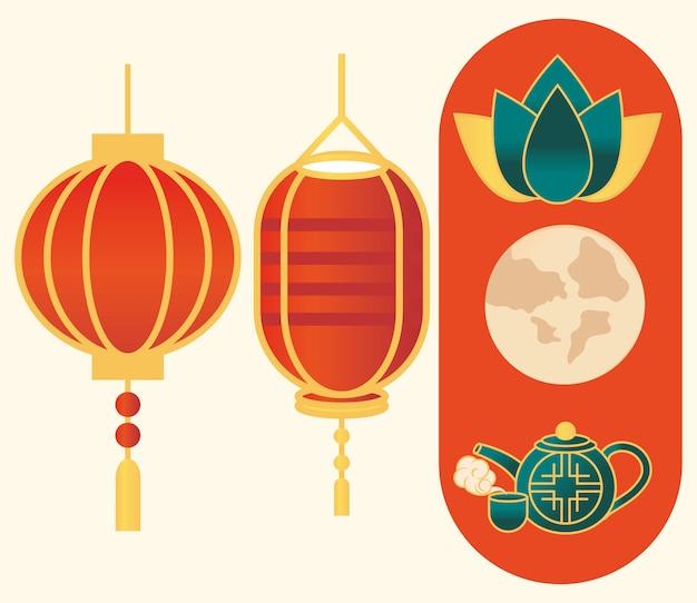 Set di icone cinesi