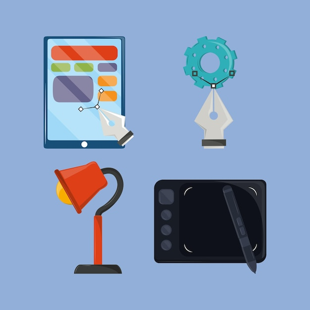 Strumenti di icone web design