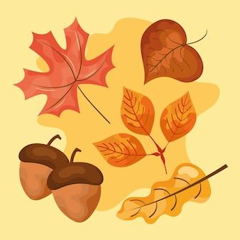 Icone di foglie d'autunno