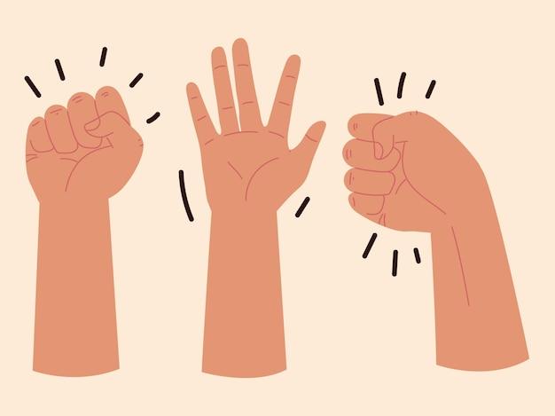 Icone mani alzate