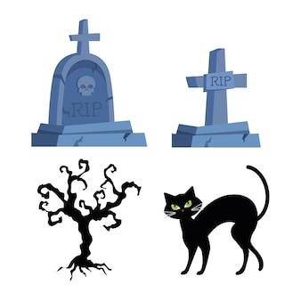 Set di icone, felice celebrazione di halloween