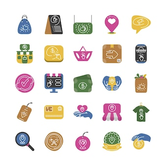 Set di icone per piccole imprese