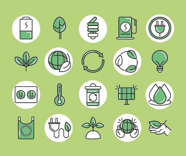 Icone sostenibili ed eco