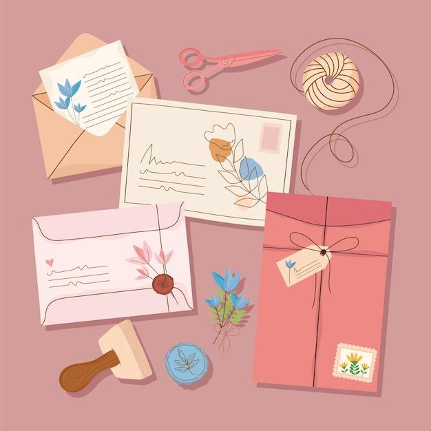 Icone con busta e cartoline