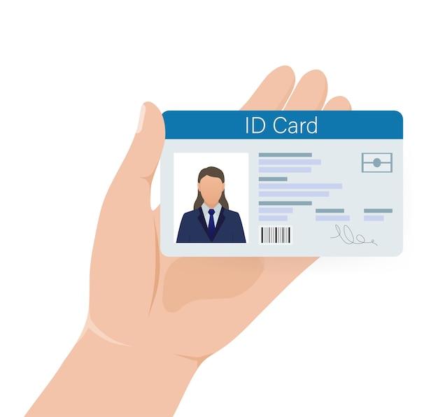 Carta d'identità, ottima per qualsiasi scopo. . . modello di progettazione.