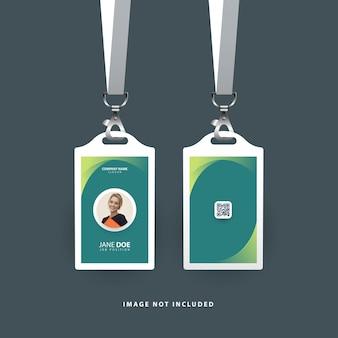 Modello di carta d'identità con forme astratte