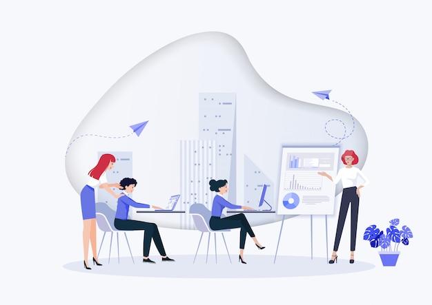 Idea e concetto di business per il lavoro di squadra.