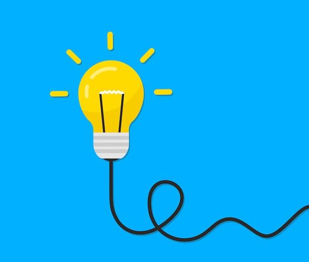 Concetto di idea con la lampadina. illustrazione vettoriale