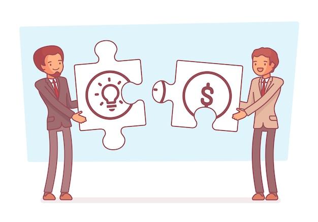 Idea e soldi puzzle