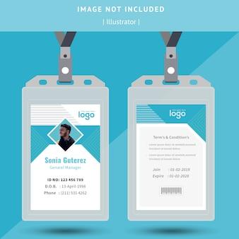 Identificazione o id card design.