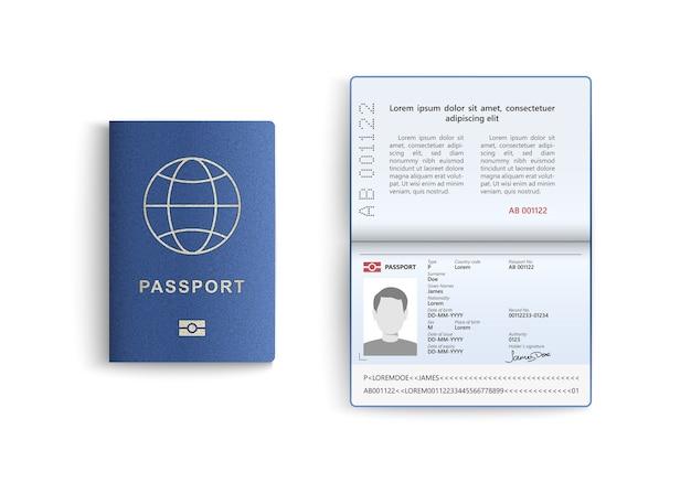 Carta d'identità isolata su bianco