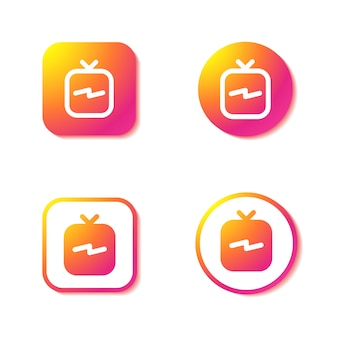 Icone igtv. insieme di segni di instagram.