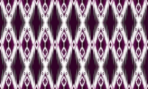 Ornamento di folklore geometrico ikat con diamanti. design per sfondo, moquette, carta da parati, abbigliamento, avvolgimento, batik, tessuto, illustrazione vettoriale. stile ricamo.