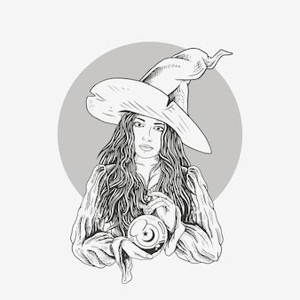 Illustrasion bella strega